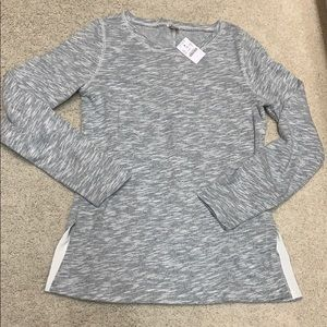 Women's heather terry crew neck sweater